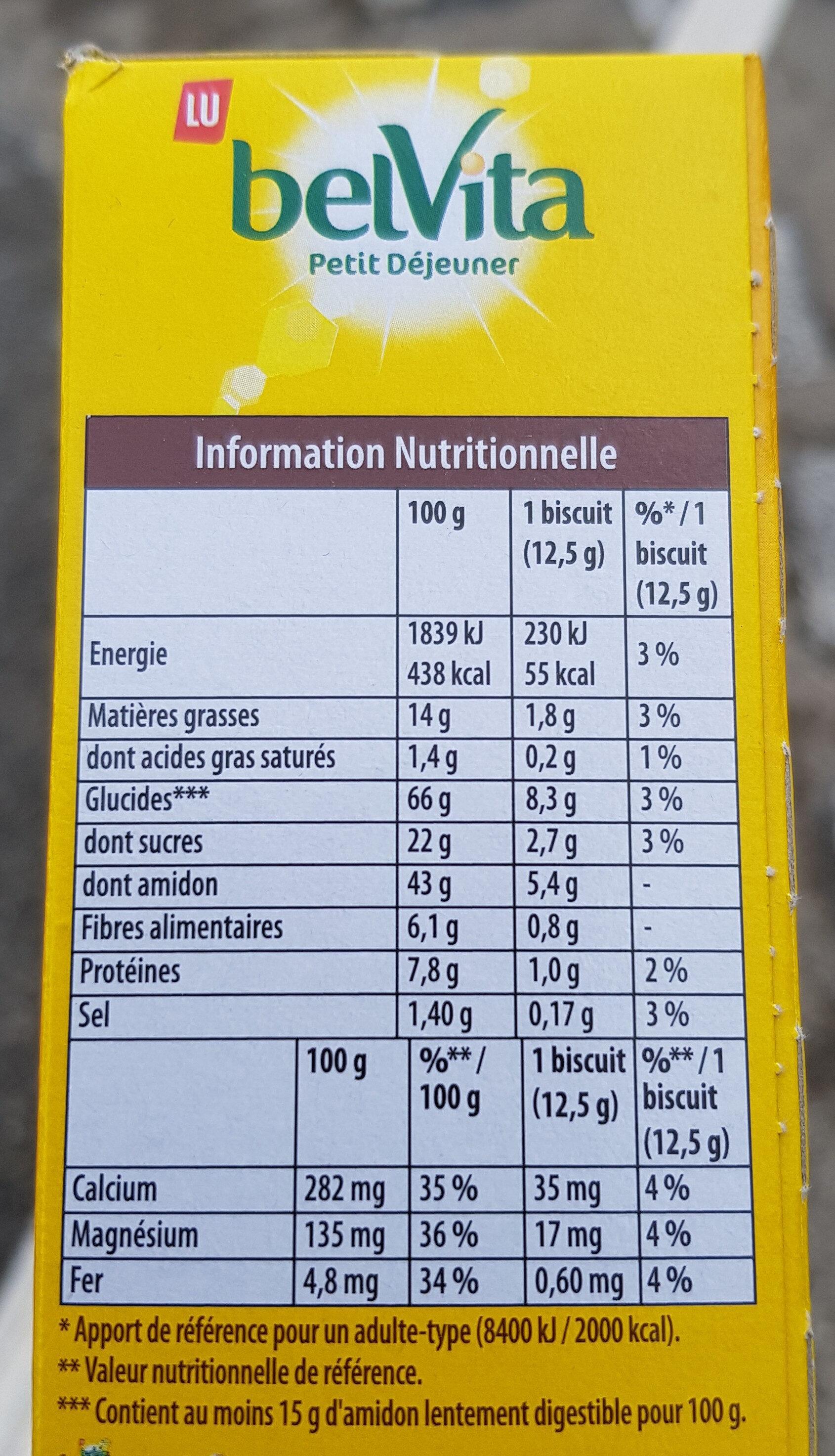 Belvita Petit-déjeuner Original - Nutrition facts