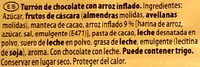 Turrón de chocolate - Ingredients