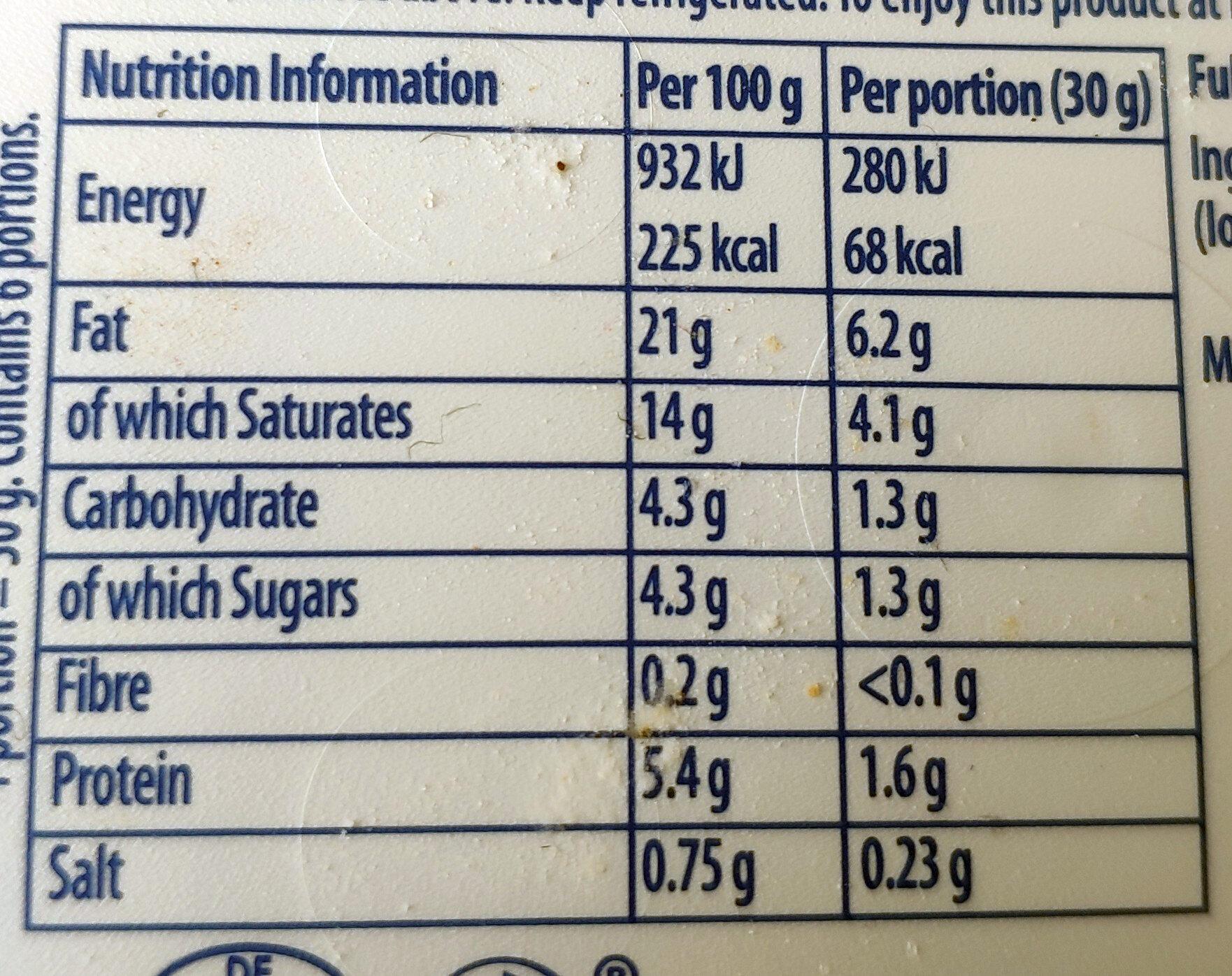 Original - Nutrition facts - en