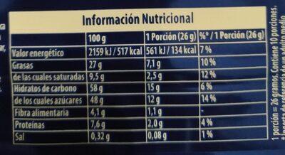 Suchard Oreo - Información nutricional - fr