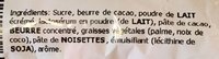 Oeufs Tendre au lait - Ingrediënten - fr