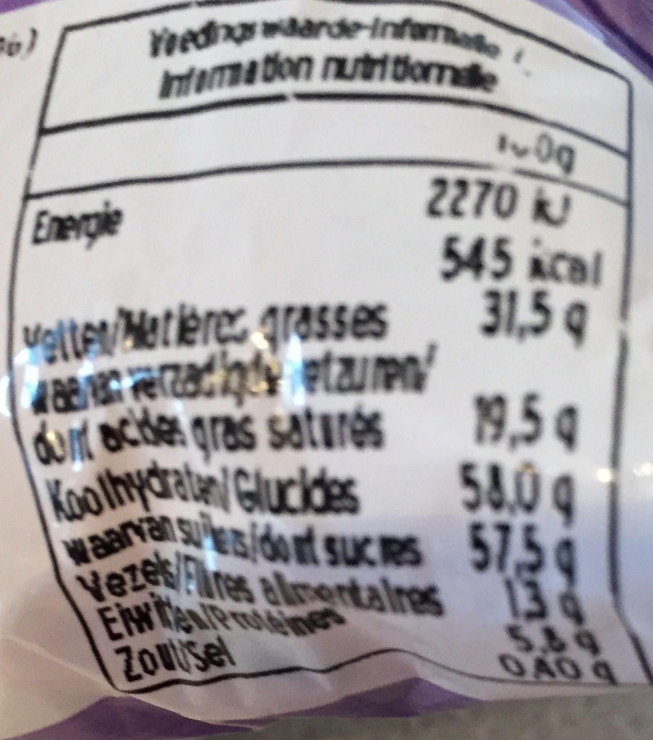 Oeufs Tendre au lait - Voedingswaarden - fr