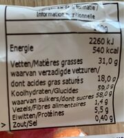 Milka œuf mix - Valori nutrizionali - fr