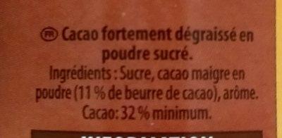 Grand arôme - Ingrediënten - fr