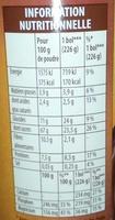 Grand arôme - Voedingswaarden - fr