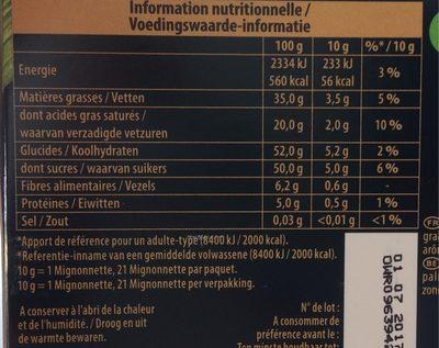 Mignonnette Chocolat Noir Praliné - Voedigswaarden