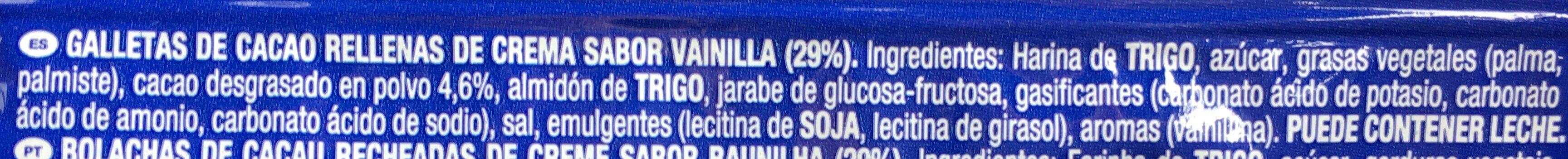 Oreo - Ingredientes - es