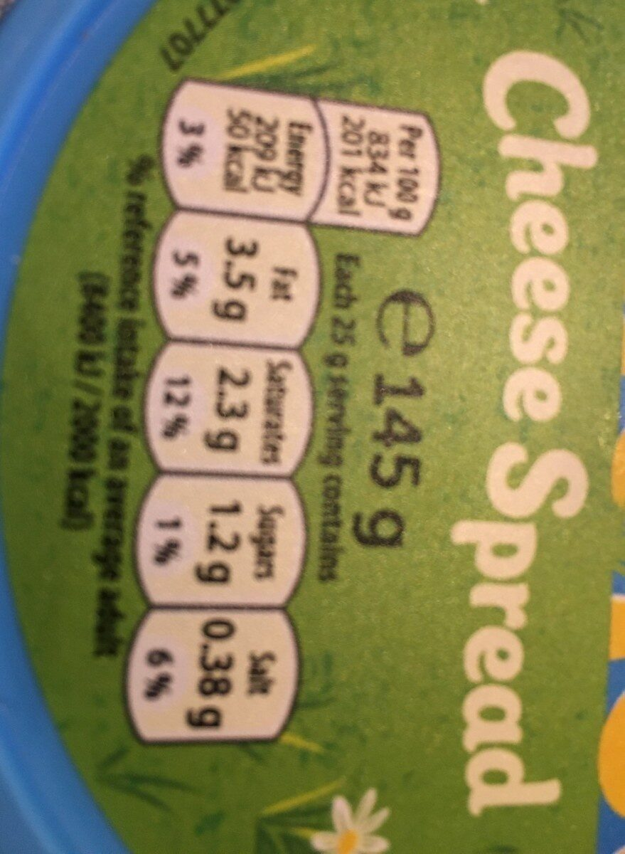 Dairylea Cheese Spread - Nutrition facts