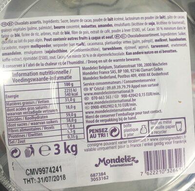 Milka - Ingrediënten - fr