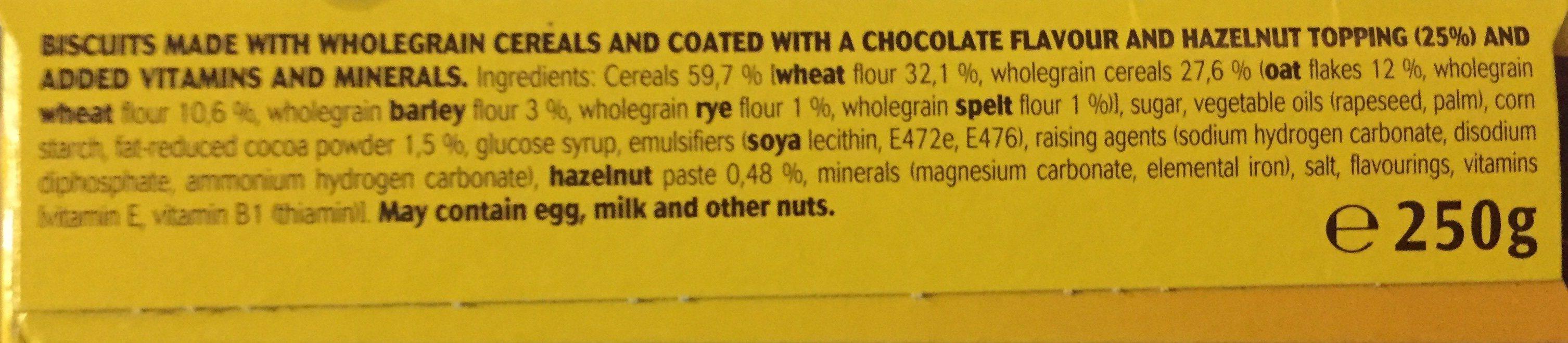 Breakfast Biscuits Tops Choco Hazelnuts 5 Packs - Ingrédients - fr