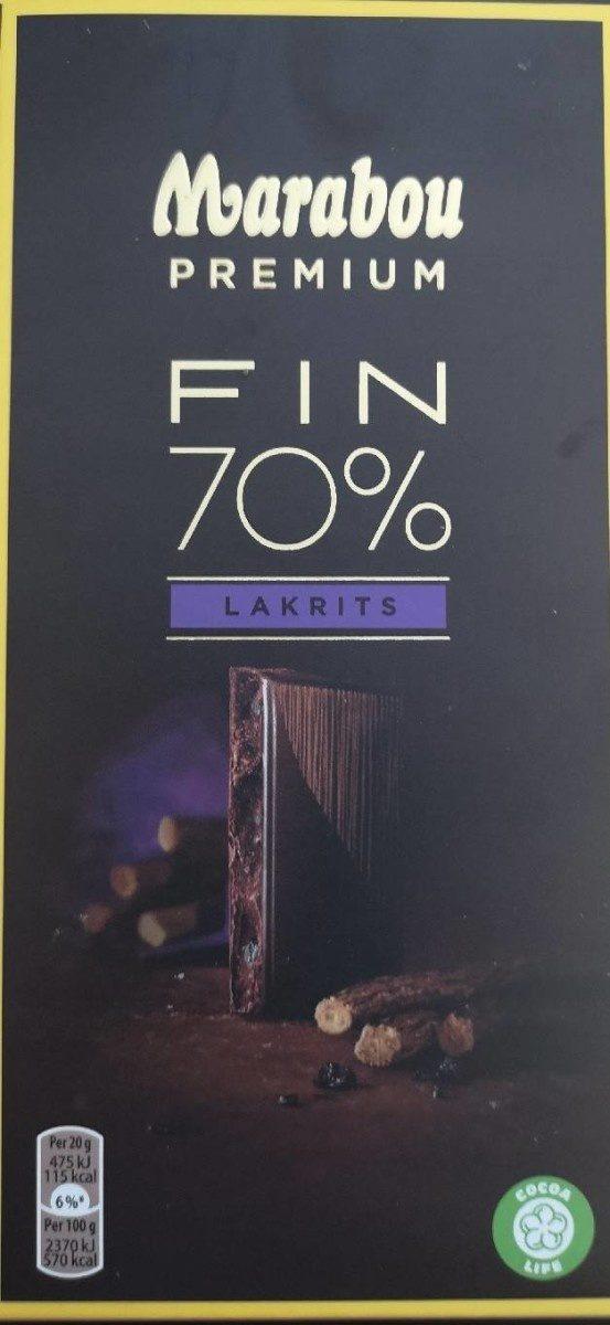 Marabou premium fin 70% - Produit