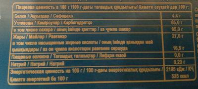 """Шоколад белый пористый """"Воздушный"""" - Voedingswaarden - ru"""
