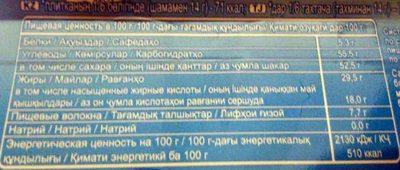 Воздушный Тёмный шоколад - Nutrition facts - ru