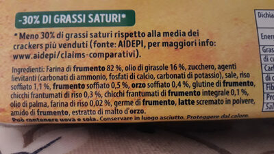 TUC Cracker multicereali - Ingredients