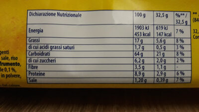 TUC Cracker multicereali - Nutrition facts