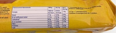 Crakers - Nutrition facts - it