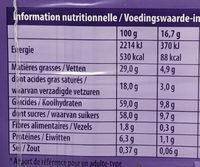 Au lait du Pays Alpin - Voedingswaarden - fr