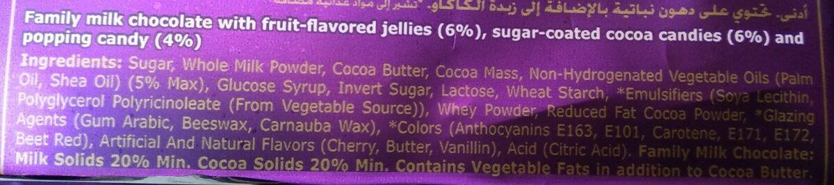 Cadbury Marvellous Jelly Popping Candy - Ingrediënten