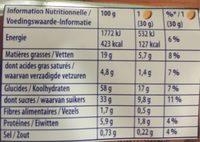 Goûter Moelleux Chocolat - Informations nutritionnelles