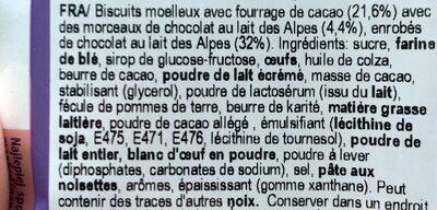 Biscotti Milka Choc And Choc - Ingredients