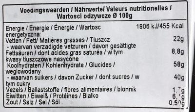 Biscotti Milka Choc And Choc - Nutrition facts
