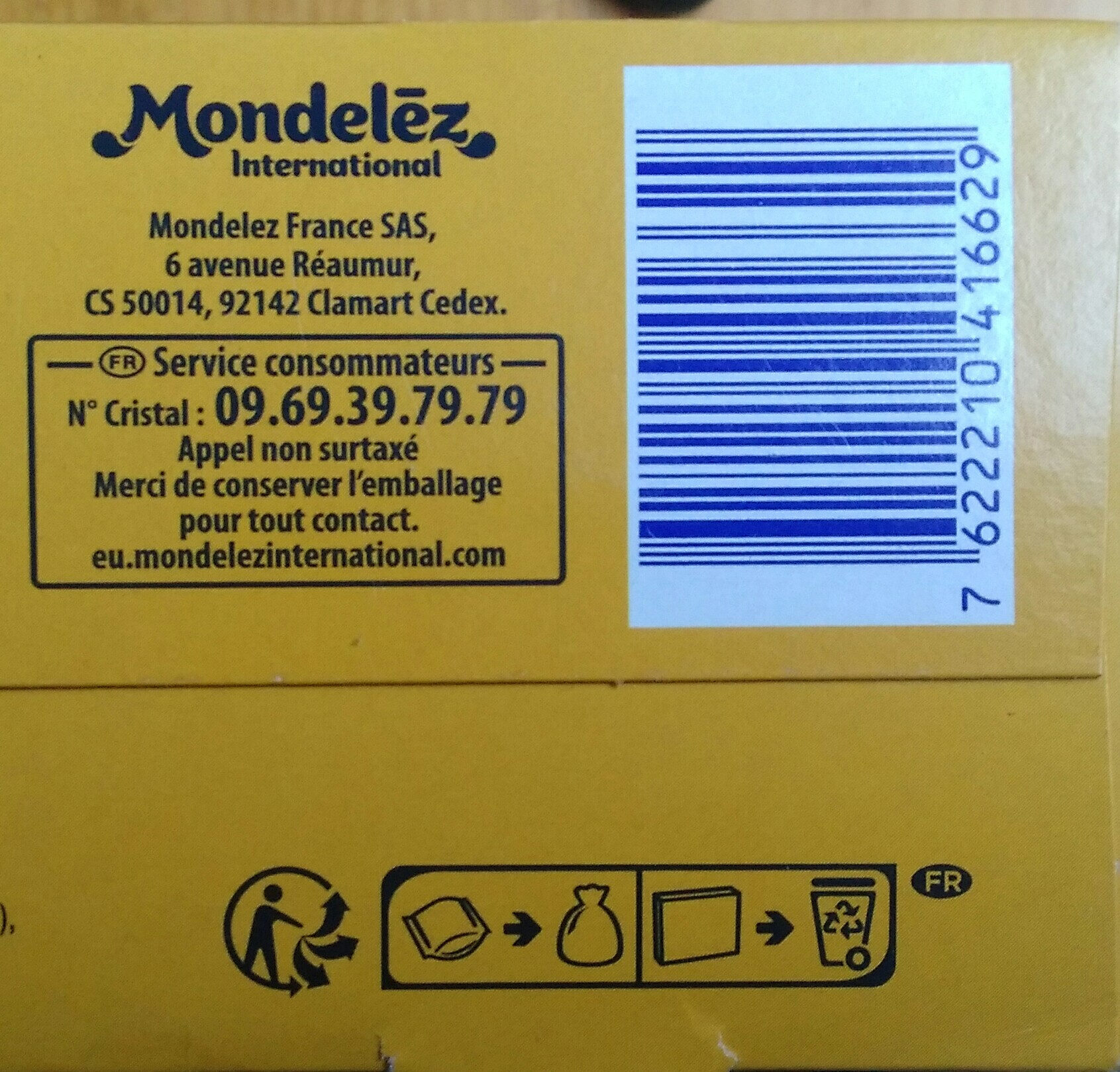 La Biscotte - Recycling instructions and/or packaging information - fr