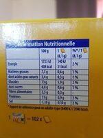 Biscotte - Información nutricional - fr