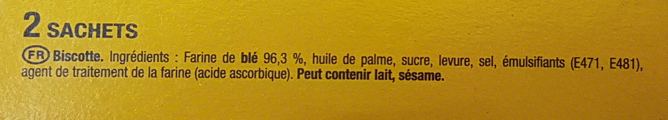 Biscotte Heudebert - Ingredienti - fr