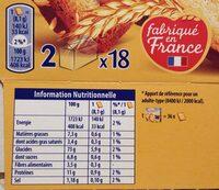 Biscotte Heudebert - Informations nutritionnelles