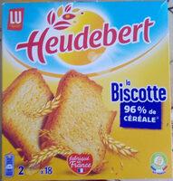 Biscotte Heudebert - Valori nutrizionali - fr
