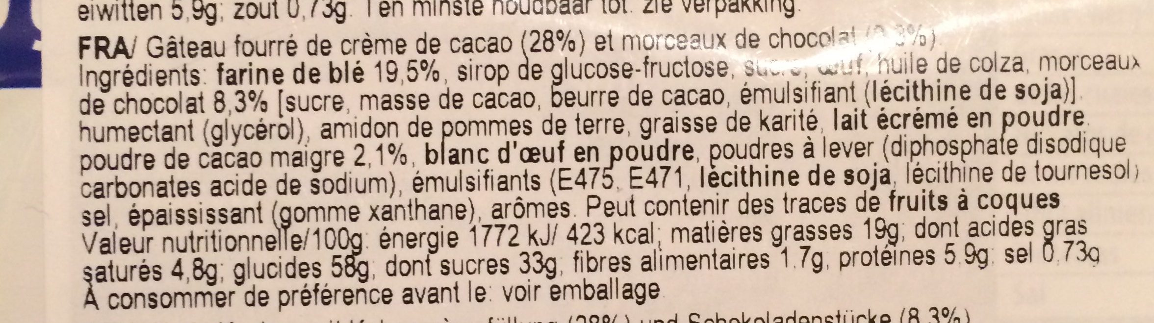 Principe tiernas - Ingrediënten