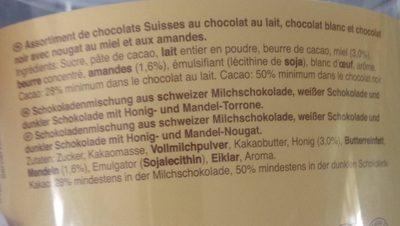 Mini Toblerone - Ingredients