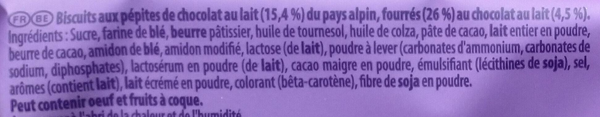 Cookies Sensations Coeur Choco - Ingrédients - fr