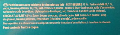 Véritable Petit Écolier Chocolat au Lait - Ingrédients - fr