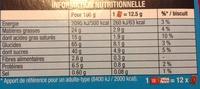 Véritable Petit Écolier Chocolat au Lait - Voedingswaarden