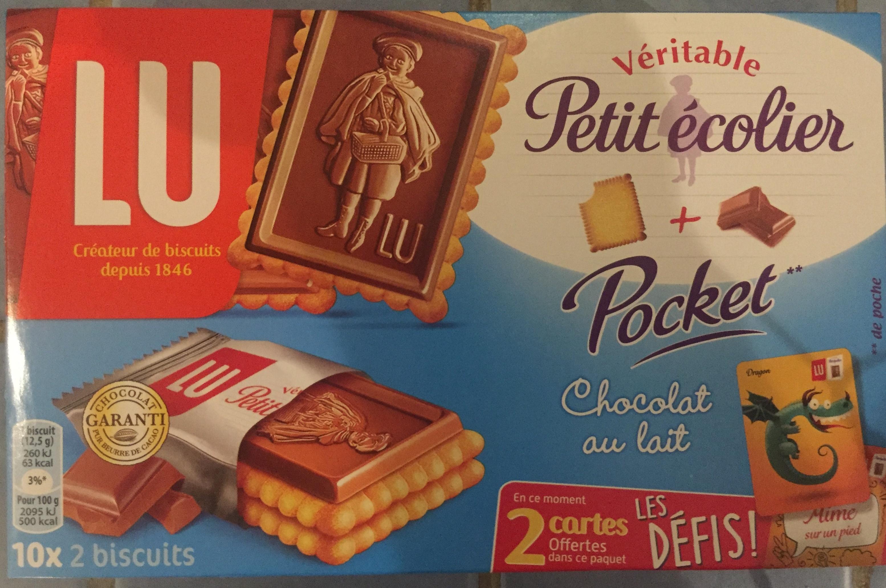 Véritable Petit écolier Pocket Chocolat au Lait - Product - fr