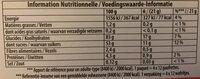La paille d'or aux framboises - Nutrition facts