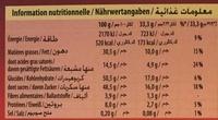 Lait Raisins Noisettes entières - Informations nutritionnelles - fr