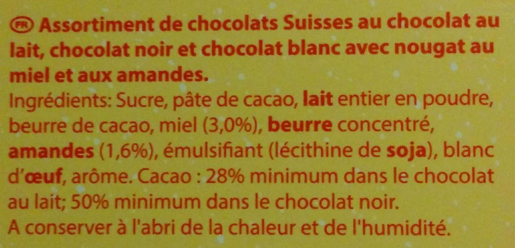 Assortiment Lait Noir Blanc - Ingrédients - fr