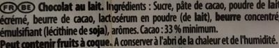 L'Original Lait - Ingredients