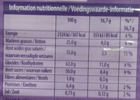 Chocolat au lait et aux grains de riz soufflés - Voedingswaarden - fr