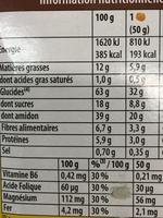 Le moelleux - Voedingswaarden