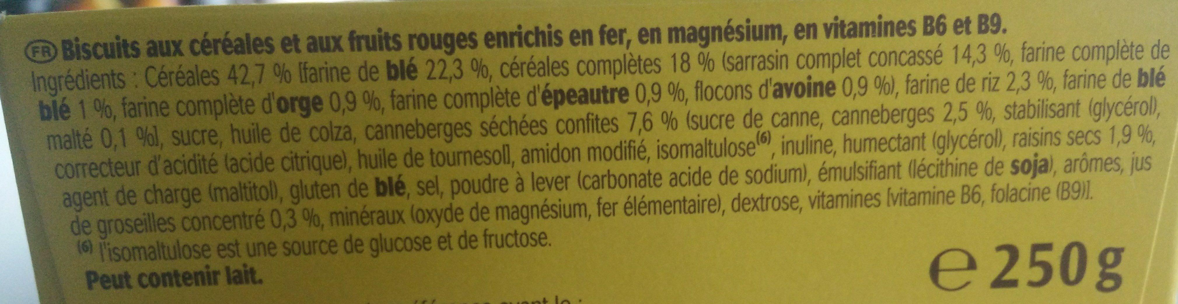 Le Moelleux fruits rouges - Ingredients - fr