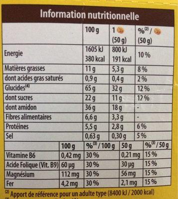 Le Moelleux fruits rouges - Nutrition facts - fr