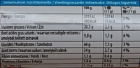 Oreo Peanut Butter Flavour - Nutrition facts - fr