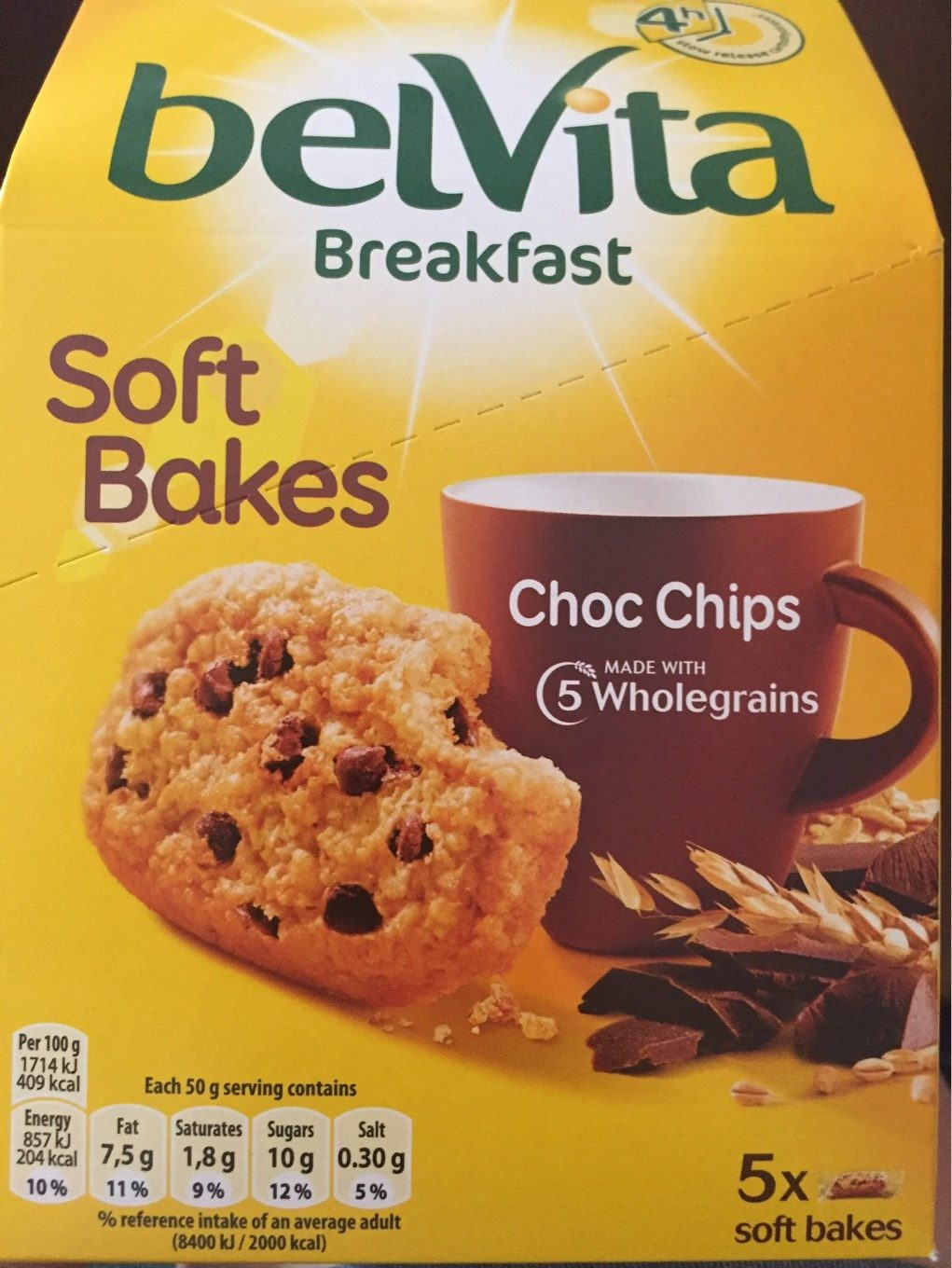Breakfast Biscuits Soft Bakes Choc Chip - Informations nutritionnelles - fr