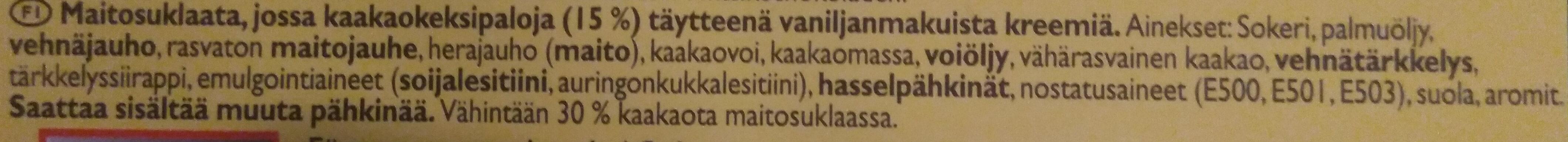 Big Taste Oreo Filled - Ainesosat - fi