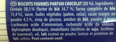 Goût Chocolat au Blé Complet - Ingredients