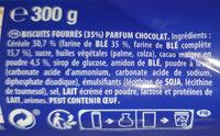 Prince goût chocolat au blé complet - Ingredientes - fr