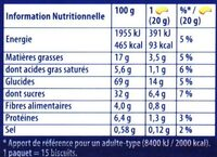 Prince: Goût Chocolat au Blé Complet - Nutrition facts